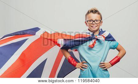 Smiling Superhero Posing