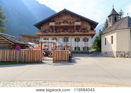 Alpine Hut Matreier Tauernhaus In Hohe Tauern Alps, Austria