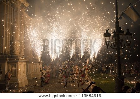 Traditional correfoc and devils performance.