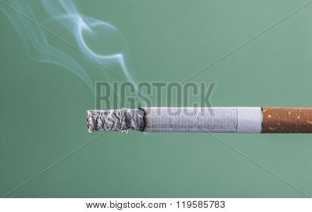 Cigarette Burning Close Up