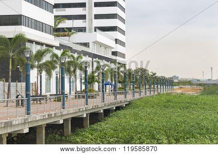 Puerto Santa Ana Boardwalk In Guayaquil Ecuador