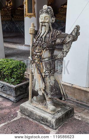 Statue At Wat Pho, Bangkok,  Thailand