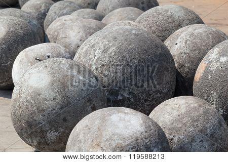 Cannon Balls In Taman Fatahilah, Old Town  Jakarta