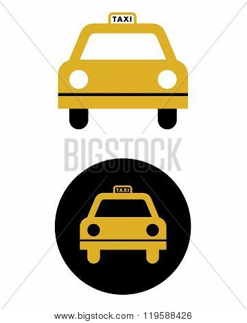 Vector Taxi Cab Graphic Set