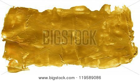 Golden Abstract Acrylic Painted Background