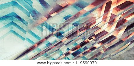 Abstract Colorful  Background, Chaotic Stripes Pattern