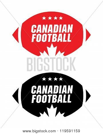 Canadian Football Icon Set in Colour and Black and White