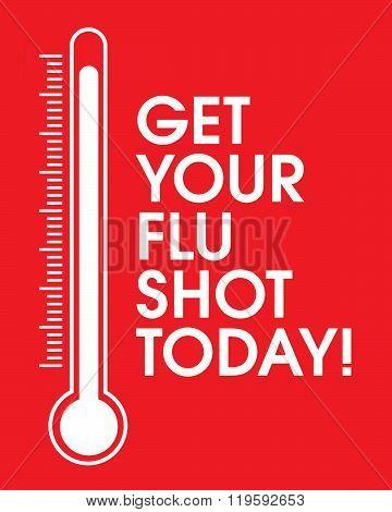 Vector 'Get Your Flu Shot Today' Poster