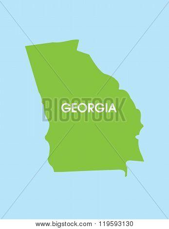 Vector Map of Georgia USA