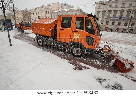 Snow Machines In The City Center