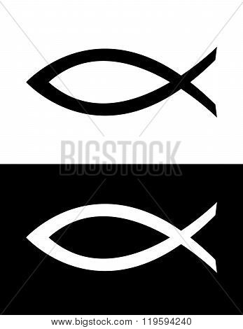 Vector Jesus Fish Symbol Set