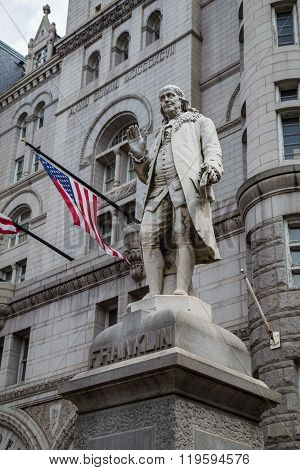 Benjamin Franklin Statue, Old Post Office Building, Washington,  Dc