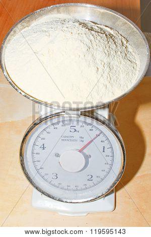 Weighing Flour