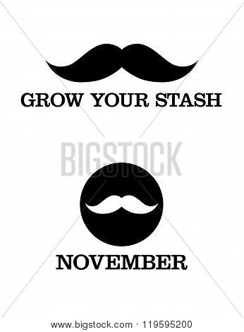 Playful Vector Moustache Icons