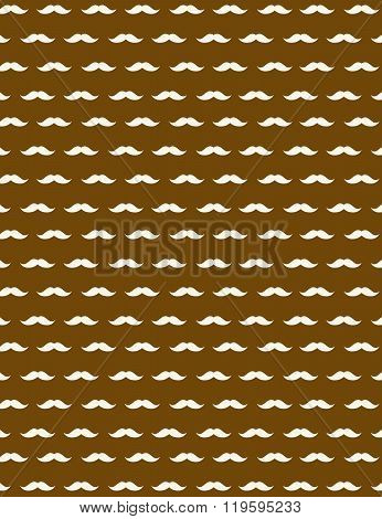 Playful Vector Moustache Pattern and Wall paper