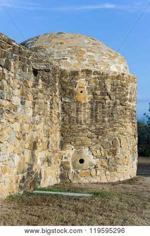 Side Tower In Mission San Jose In San Antonio,  Texas