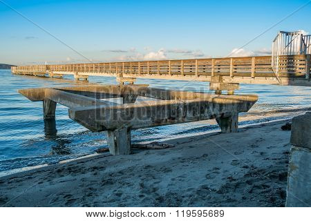 Pier At High Tide 4