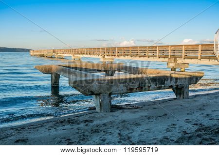 Pier At High Tide 5