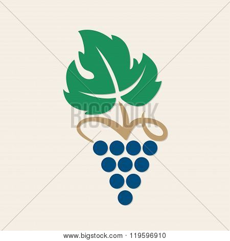 Grape icon. Design element for winemaking, viticulture, wine house. Vector bunch of grapes.