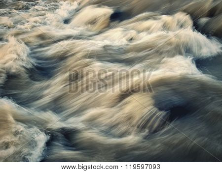 abstract background or texture dark retro style fierce wild river