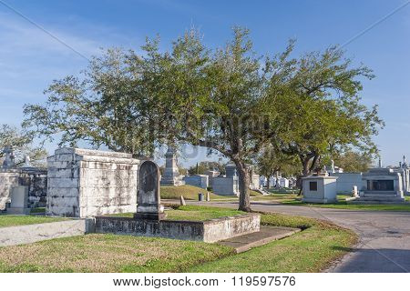 Classical Colonial French Cemetery In New Orleans, Louisiana