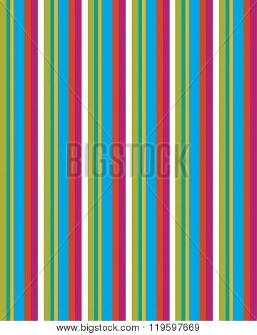 Fun and colourful vector stripped pattern and background