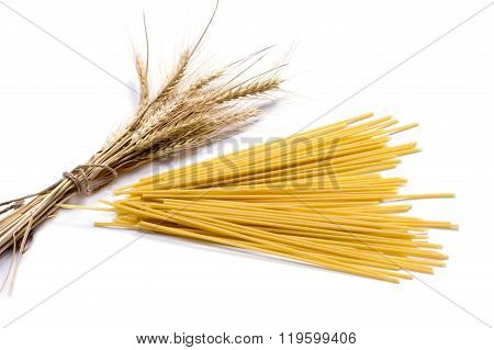 Ears Of Wheat And Linking Of Spaghetti, Isolate