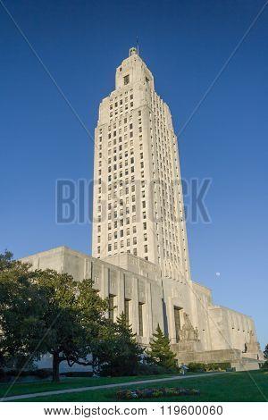 Louisiana State Capitol In Baton Rouge,  La