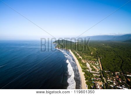 Aerial View of Sao Sebastiao, Brazil