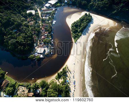 Top View of Barra do Una, Sao Paulo, Brazil