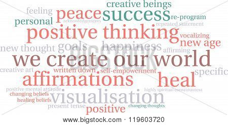 We Create Our World Word Cloud