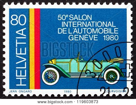 Postage Stamp Switzerland 1980 Pic-pic, Swiss Automobile