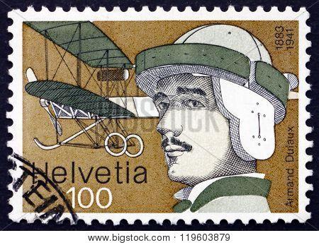 Postage Stamp Switzerland 1977 Armand Dufaux, Aviator