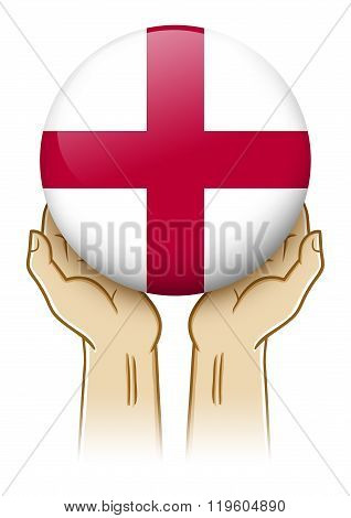 Pray For England Illustration