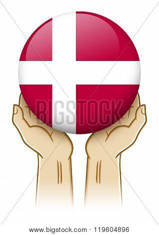 Pray For Denmark Illustration