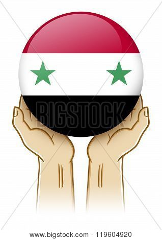 Pray For Syria Illustration