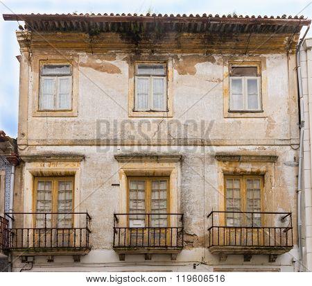 Facades Of Aveiro, The Portuguese Venice. Aveiro,  Portugal.