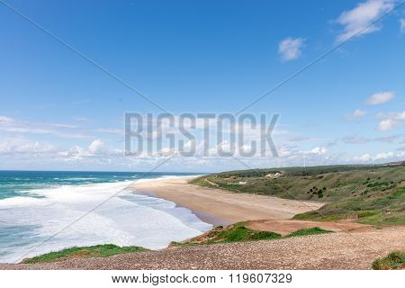 Beach In Nazare, A Surfing Paradise Town - Nazare, Portugal