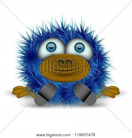 Shaggy Blue Monster