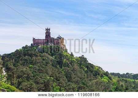 Pena Palace In Sintra, Portugal. Unesco World Heritage Site.