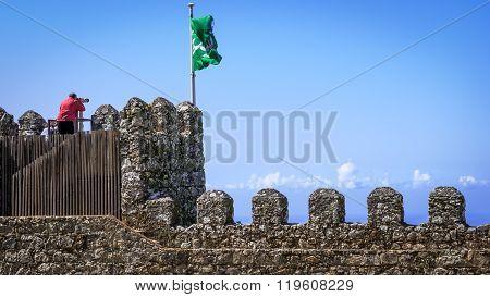 Moorish Castle Scenery - Sintra, Portugal