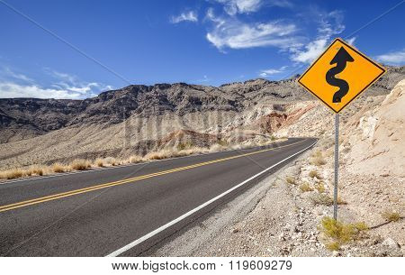 Picture Of A Winding Road Ahead Sign