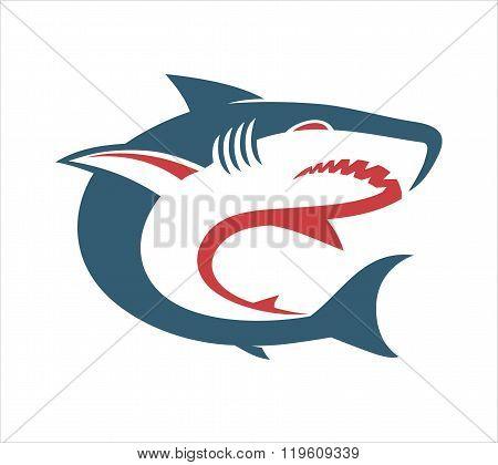 Shark Blue red