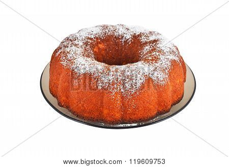 Biscuit Cake On Plate