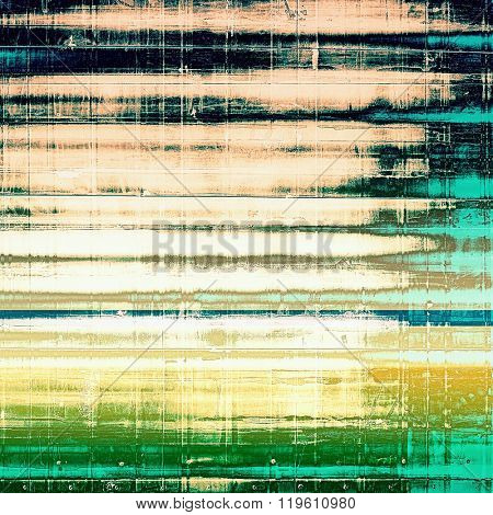 Grunge old-fashioned background with space for text or image. With different color patterns: yellow (beige); brown; green; blue; black