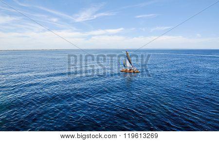 Catamaran in Calm Waters