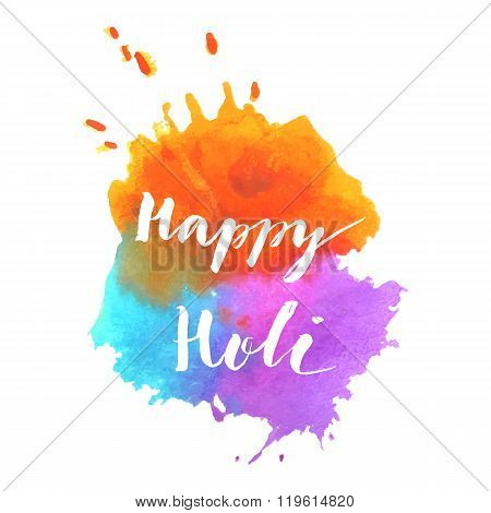 Happy Holi spring festival vector background