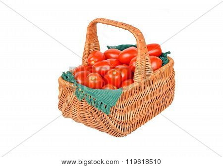 Tomato In A Wattled Basket