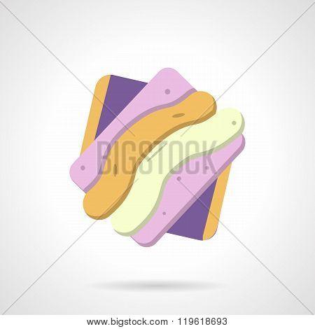 Marmalade candy flat color design vector icon