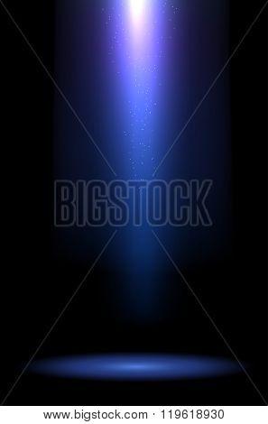 Rays Of Blue Light On Dark Background